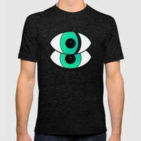 Those Eyes... Mens Fitted Tee Tri-Black SMALL