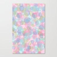 Pebbles Lavender Canvas Print