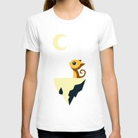 anime T-shirts featuring Moon Cat by Freeminds