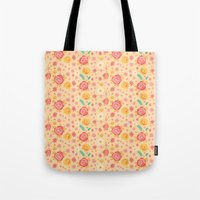 Peach Roses Tote Bag