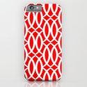 Harlequin Lattice in Red iPhone & iPod Case