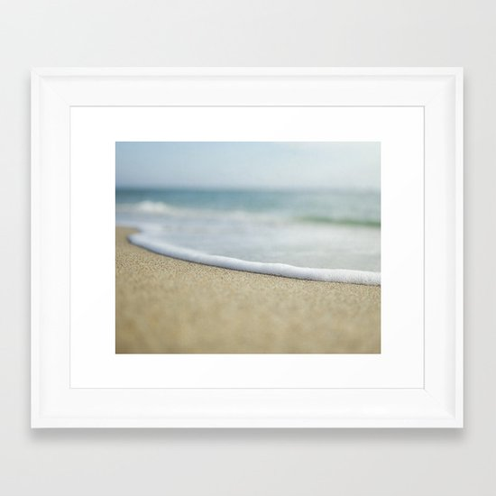 Sea Foam Beach Framed Art Print