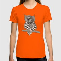 Rupert Owl Womens Fitted Tee Orange SMALL