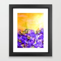 INTO ETERNITY, YELLOW AN… Framed Art Print