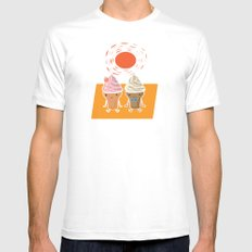 ice cream and sun bath Mens Fitted Tee SMALL White