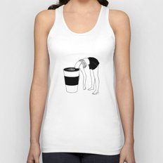 Coffee, First Unisex Tank Top