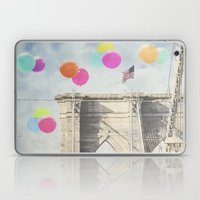 Bright Brooklyn Bridge Balloons Laptop & iPad Skin