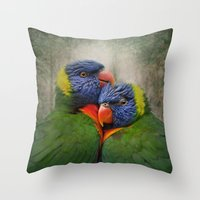 Rainbow lovers Throw Pillow