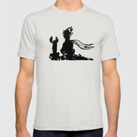 The Little Prince And Th… Mens Fitted Tee Silver SMALL