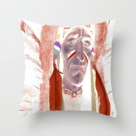 Indian Chief Fantasy Throw Pillow