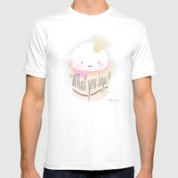 What You Say?... Muffin Mens Fitted Tee White SMALL