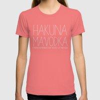 Hakuna Ma'Vodka Womens Fitted Tee Pomegranate SMALL