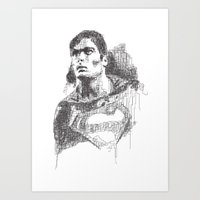 Christopher Reeve Portra… Art Print