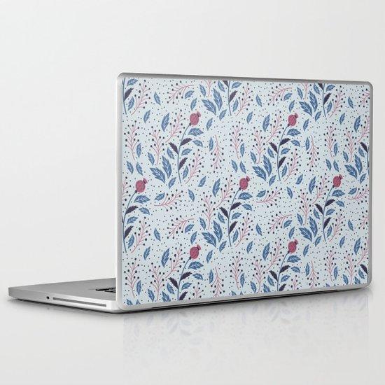 Purple Thistle Buds Laptop & iPad Skin