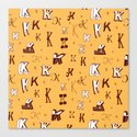 Letter Patterns, Part K Canvas Print