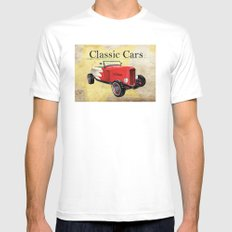 Classic Cars Mens Fitted Tee White SMALL