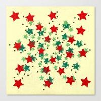 5 Colors Composition (#2) Canvas Print