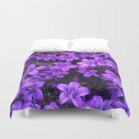 Violetta Blue Duvet Cover