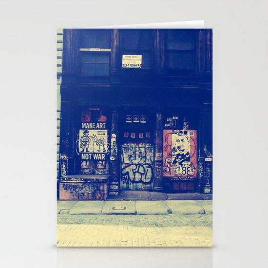 Make Art Not War Stationery Card