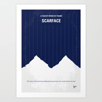 No158 My SCARFACE Minima… Art Print