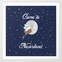 Peter Pan Neverland In N… Art Print