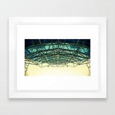 Grid Canopy Framed Art Print