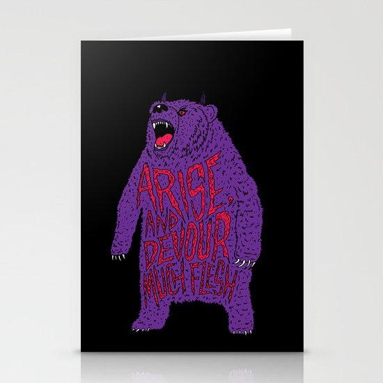 Arise and Devour Much Flesh Stationery Card