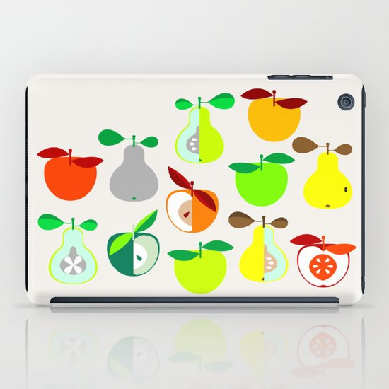 Apples and Pears / Geometrical 50s pattern of apples and pears iPad Case