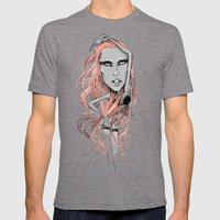 HER HAIR Mens Fitted Tee Tri-Grey SMALL