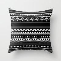 Graphic_Black&White #6 Throw Pillow