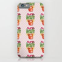 Polka Dots and Pots of Dried Roses iPhone 6 Slim Case