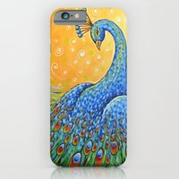 iPhone & iPod Case featuring Peacock ... Showing Off by Amy Giacomelli