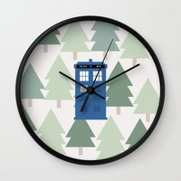 TARDIS Lands In The Paci… Wall Clock