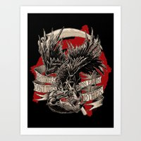 THE CROW VS. THE RAT Art Print