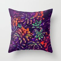 Cali Succulents 3 Throw Pillow