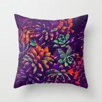 Cali Succulents 3 Throw Pillow