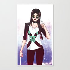 Laura On the Street Canvas Print