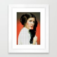 Princess With Gun Framed Art Print