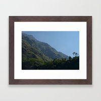 Lush Scenery Ghasa to Tatopani Framed Art Print