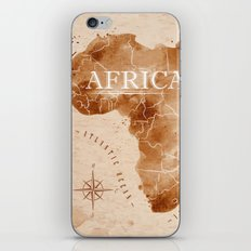 Vintage Africa Map  iPhone & iPod Skin
