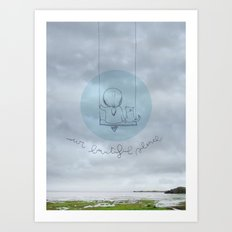 Our beautiful silence. Art Print