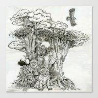 Jungle Friends Canvas Print