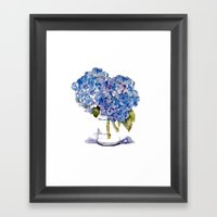 Cape Cod Hydrangea Large Canvas Framed Art Print