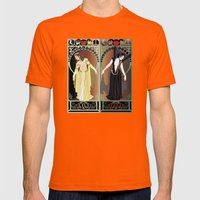 Legend Nouveau - Mirrored Mens Fitted Tee Orange SMALL