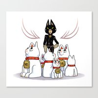 Woman Of Cats Canvas Print
