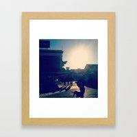 Ocean City Boardwalk Framed Art Print