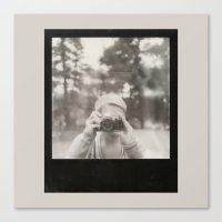 Camera Girl. Canvas Print