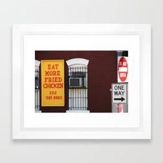 Eat More Fried Chicken Framed Art Print