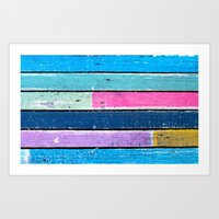 color grunge wood 2 Art Print