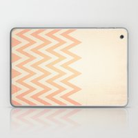 Orange Textured Chevron Laptop & iPad Skin